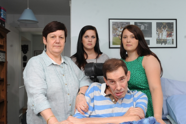 FAMILY PHOTO: Jane Nicklinson, her late husband Tony and their daughters lost the fight to legalise assisted suicide before his death last August. Photo courtesy of PA.